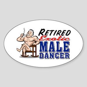 RETIRED MALE DANCER Oval Sticker