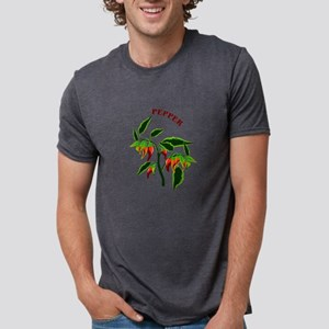 Pepper plant graphic with word pepper Mens Tri-ble