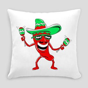 Pepper maracas sombrero sunglasses Everyday Pillow