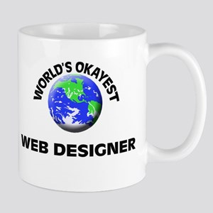 World's Okayest Web Designer Mugs