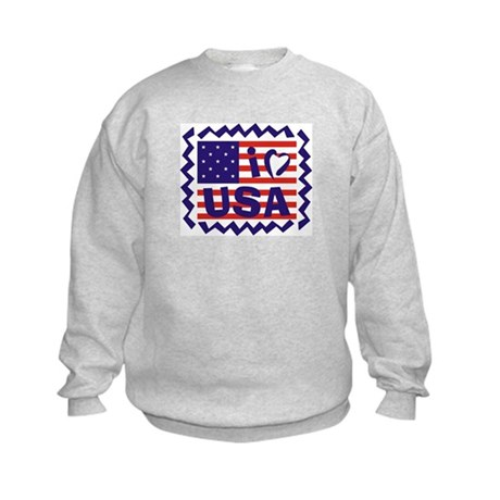 I Heart USA Stamp Kids Sweatshirt