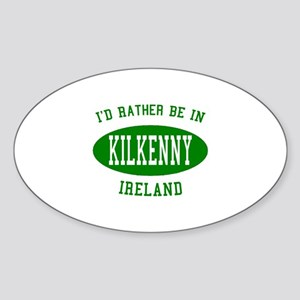 I'd Rather Be in Kilkenny, Ir Oval Sticker