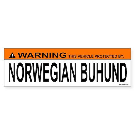NORWEGIAN BUHUND Bumper Sticker