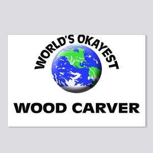 World's Okayest Wood Carv Postcards (Package of 8)