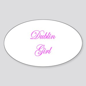 Dublin Girl Oval Sticker