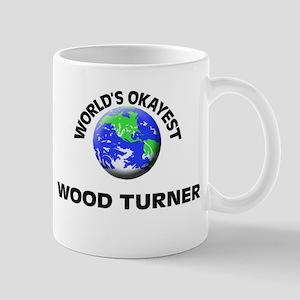 World's Okayest Wood Turner Mugs