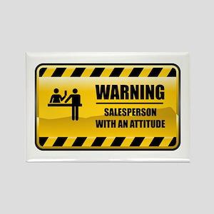Warning Salesperson Rectangle Magnet