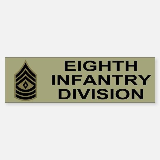 8th Infantry Division<BR> Bumper Sticker 2