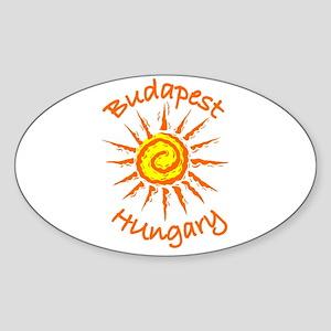 Budapest, Hungary Oval Sticker