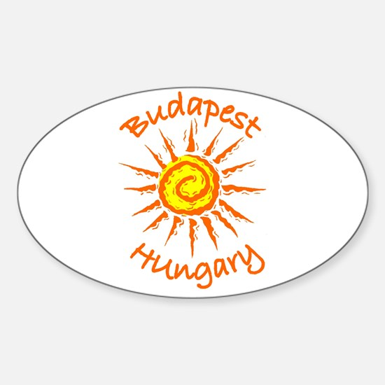 Budapest, Hungary Oval Decal