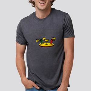 Dancing peppers with drink Mens Tri-blend T-Shirt