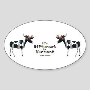 Vermont Moose Oval Sticker