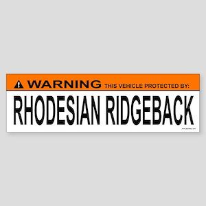 RHODESIAN RIDGEBACK Bumper Sticker