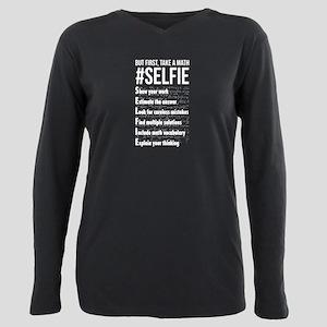 Take a Math Selfie - Mat Plus Size Long Sleeve Tee