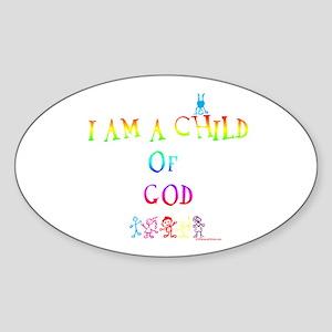 I AM A CHILD OF GOD Oval Sticker