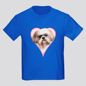 Heart Shih Tzu - Kids Dark T-Shirt