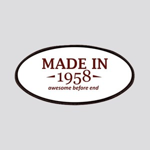 Made In 1958 Patch
