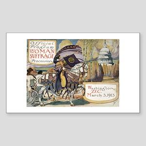 Woman Suffrage Procession Rectangle Sticker