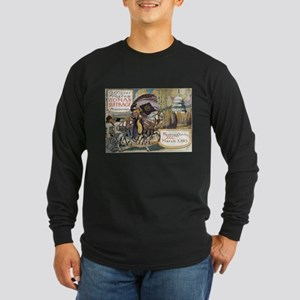 Woman Suffrage Procession Long Sleeve Dark T-Shirt