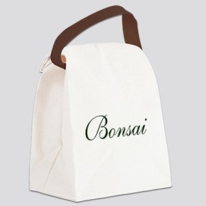 BONSAI (text) Canvas Lunch Bag