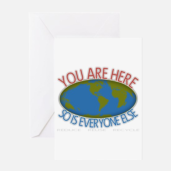 You Are Here Environmental Greeting Card
