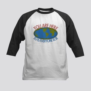 You Are Here Environmental Kids Baseball Jersey