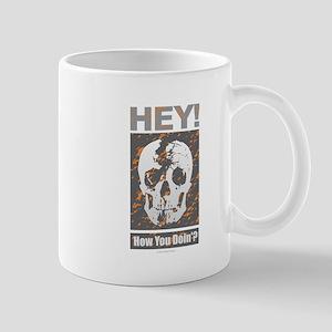 HEY SKULL w Orange Mugs