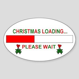 CHRISTMAS LOADING... Oval Sticker
