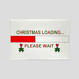 CHRISTMAS LOADING... Rectangle Magnet