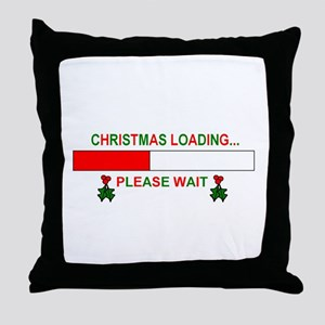 CHRISTMAS LOADING... Throw Pillow