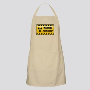 Warning Radiation Specialist BBQ Apron