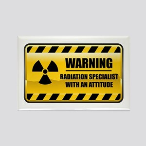 Warning Radiation Specialist Rectangle Magnet