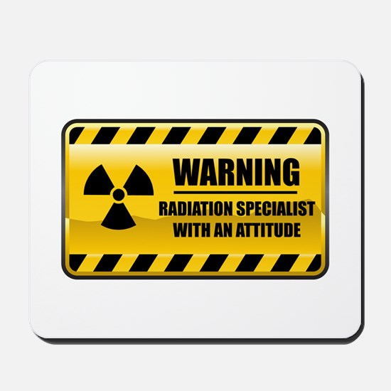 Warning Radiation Specialist Mousepad