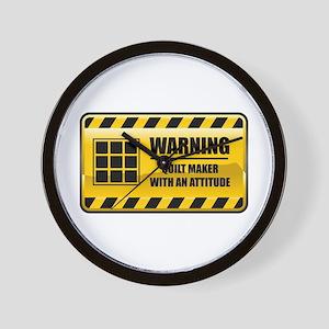 Warning Quilt Maker Wall Clock