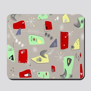 Mid-Century Boomerangs Mousepad