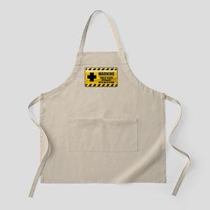 Warning Public Health Specialist BBQ Apron