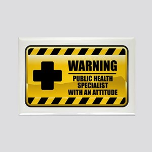 Warning Public Health Specialist Rectangle Magnet