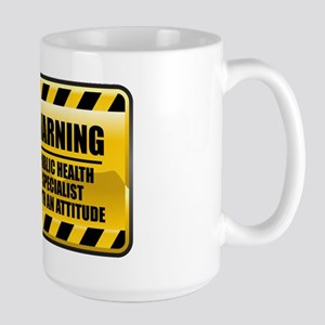 Warning Public Health Specialist Large Mug