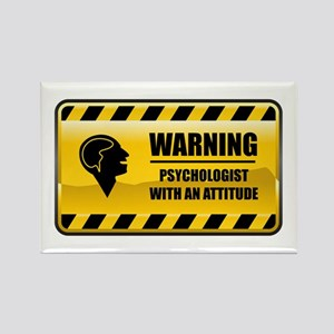 Warning Psychologist Rectangle Magnet