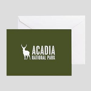 Deer: Acadia National Park, Maine Greeting Card