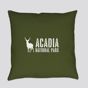Deer: Acadia National Park, Maine Everyday Pillow