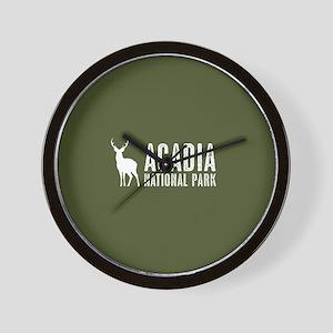 Deer: Acadia National Park, Maine Wall Clock