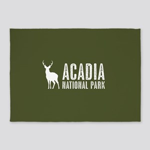 Deer: Acadia National Park, Maine 5'x7'Area Rug