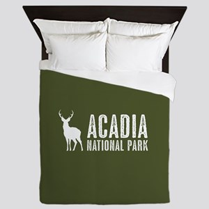 Deer: Acadia National Park, Maine Queen Duvet