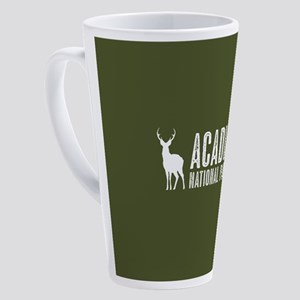 Deer: Acadia National Park, Maine 17 oz Latte Mug