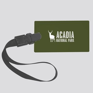 Deer: Acadia National Park, Main Large Luggage Tag