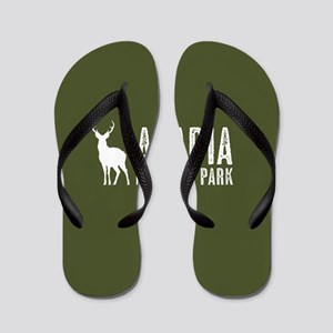 Deer: Acadia National Park, Maine Flip Flops