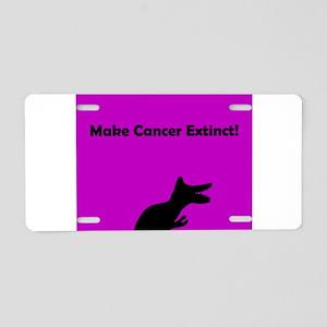 Make Cancer Extinct Purple Aluminum License Plate