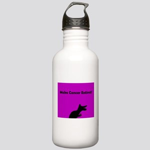 Make Cancer Extinct Pu Stainless Water Bottle 1.0L