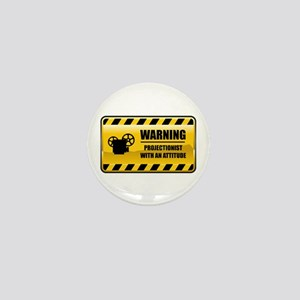 Warning Projectionist Mini Button